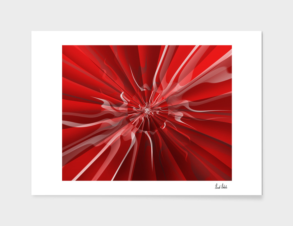 Abstract red umbrella