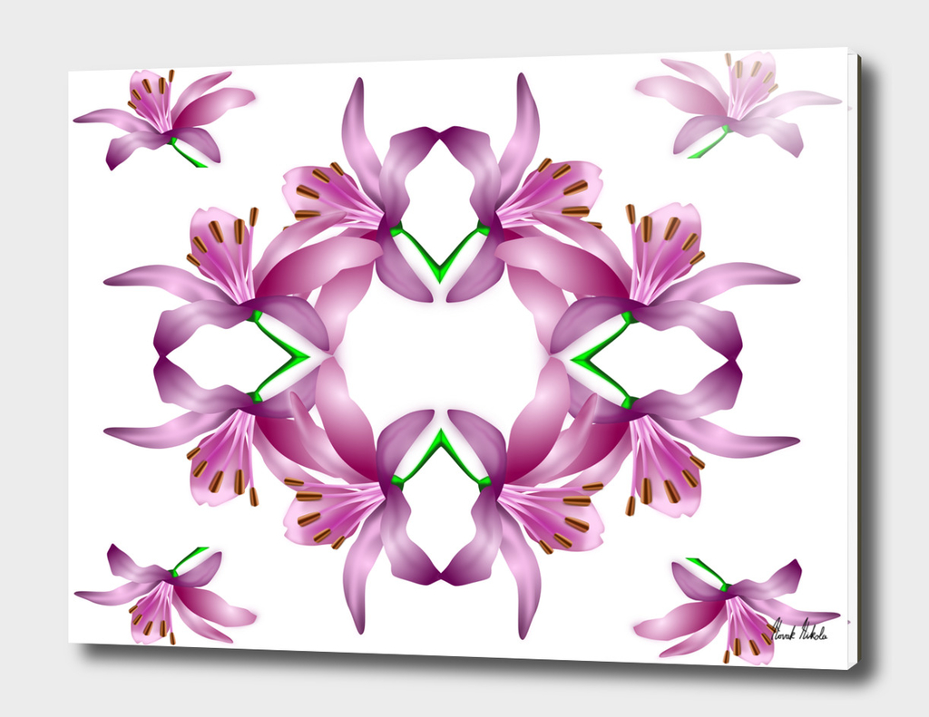 Abstract flowers vector art