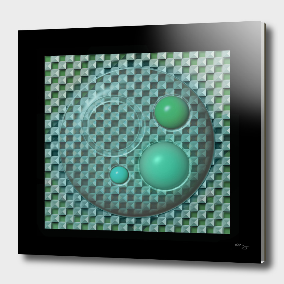 Green and Blue on Glass