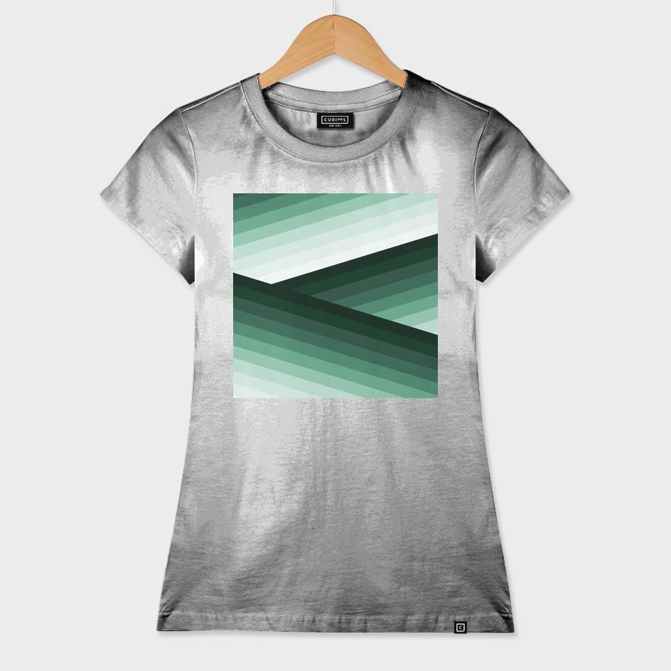 Serene Contemporary Green Ombre Design