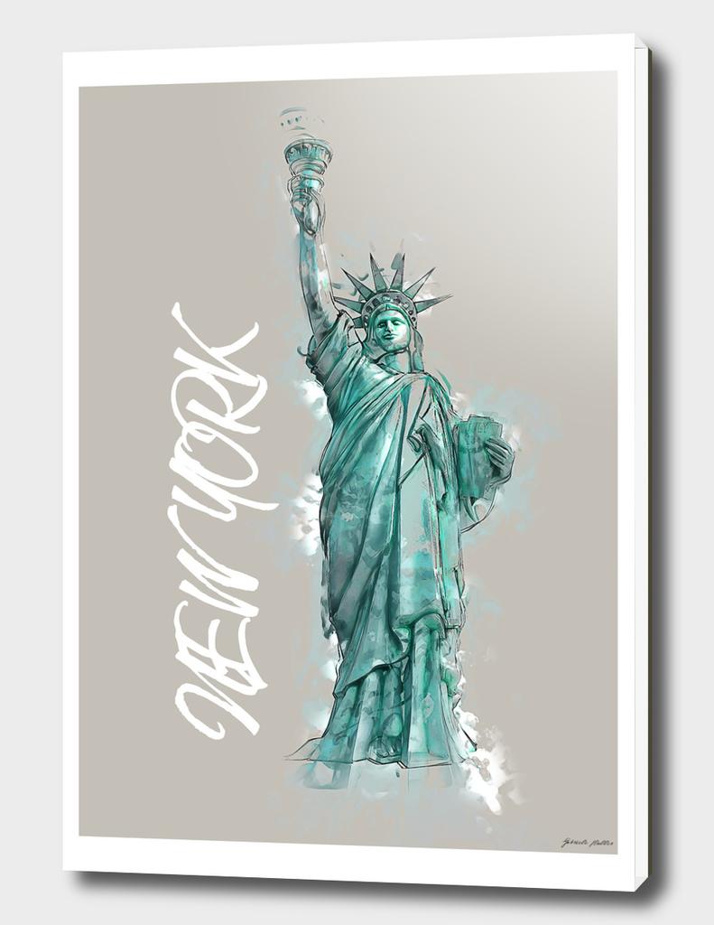 Liberty, New York - Digital Art