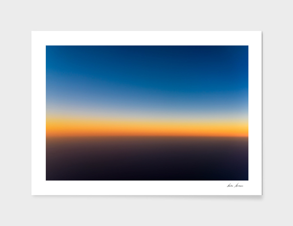 Aerial Photo Of Ocean Sunset