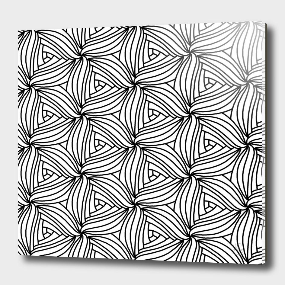 Black and White Geometric Petals