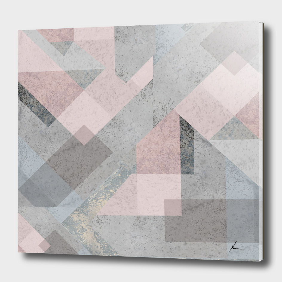 BLUSH GRAY CHEVRON SCANDINAVIAN