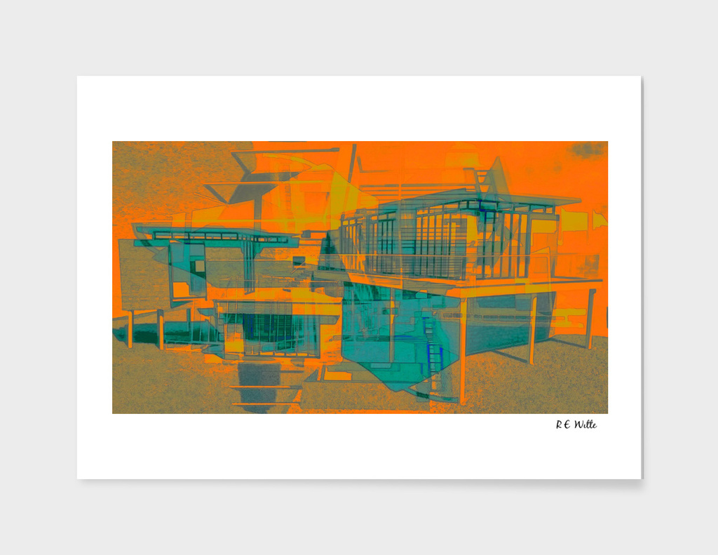 Flat Architectural, Orange & Teal, pt. 1