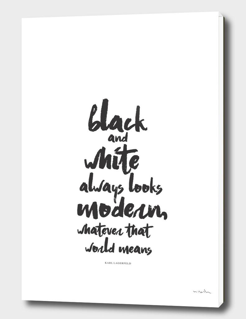 Black and White #typo