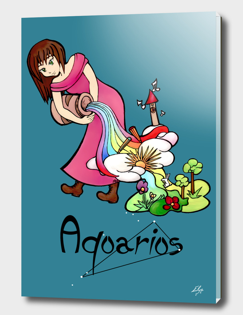 "Aquarius among the stars - series of T-shirts ""Polaris"""