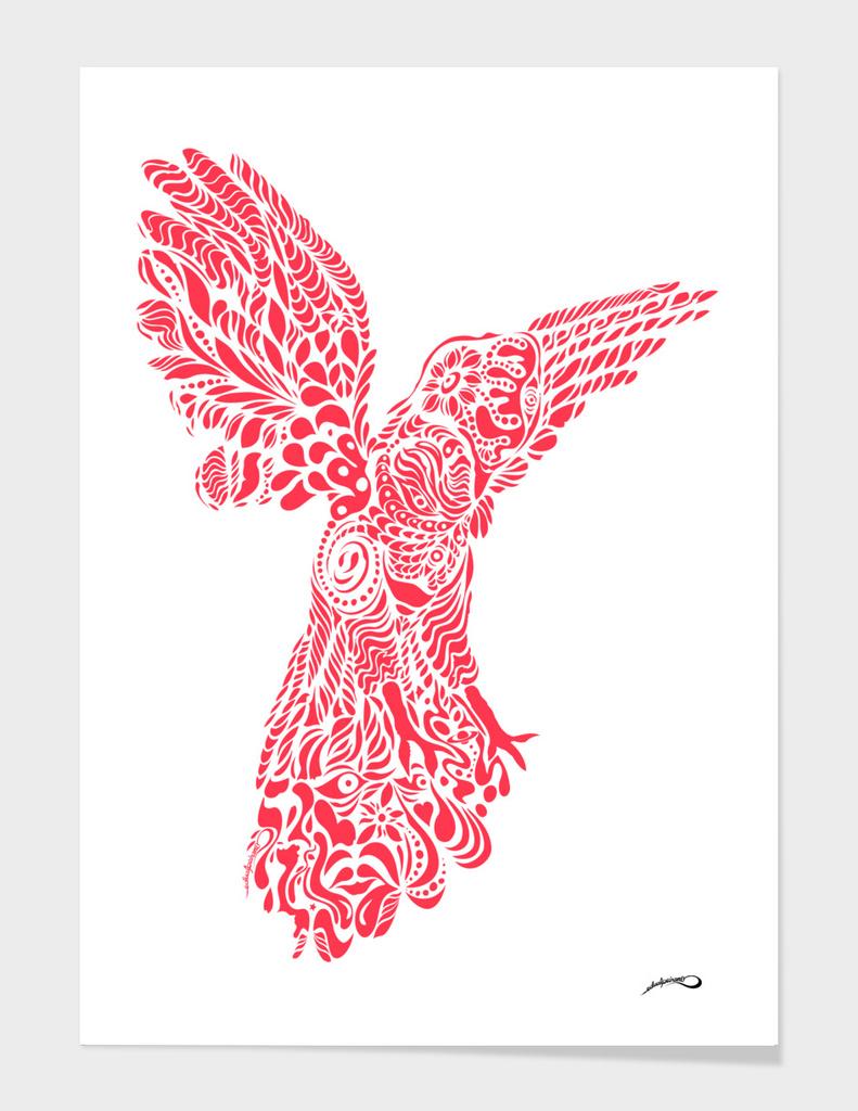 Gallito de las rocas peruvian bird red version