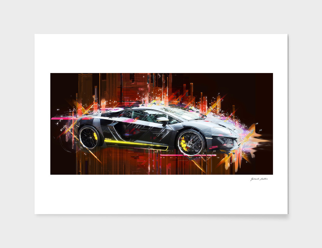 Sports Car, Lamborghini - PopArt