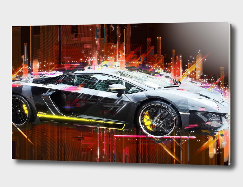 Sports Car, Lamborghini - PopArt