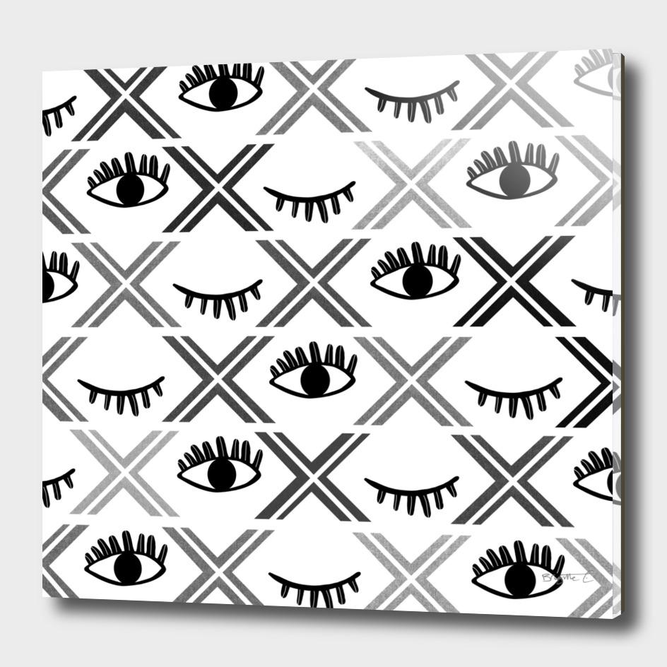 Original Black and White Eyes Design