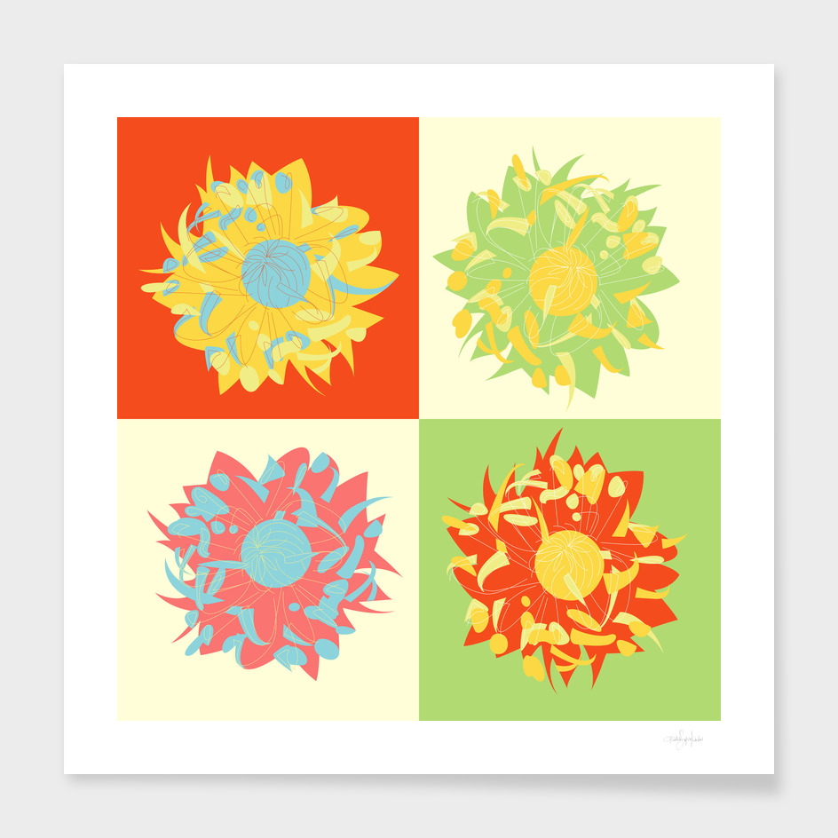 Abstract Chrysanthemums