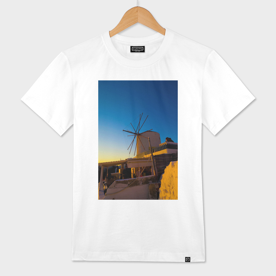 windmill in Oia