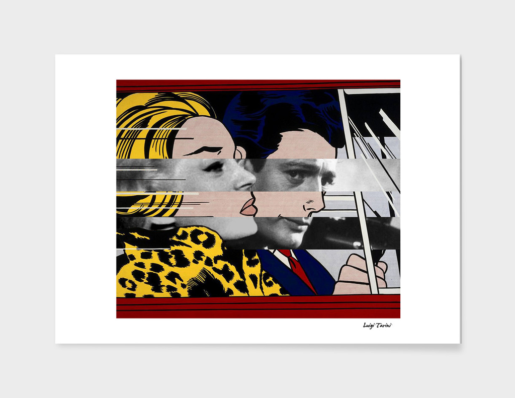 Roy Lichtenstein's & Marcello Mastroianni in La Dolce Vita