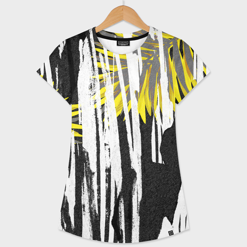 Abstract Palm Tree Leaves Design