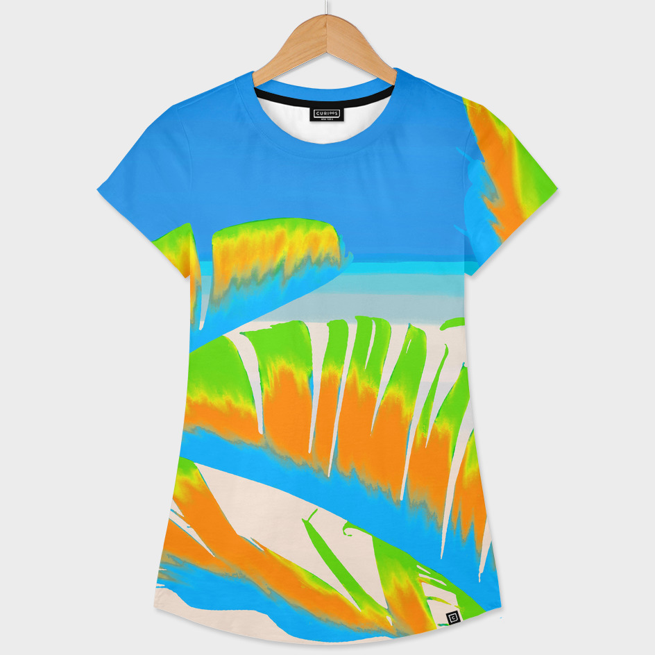 Tropical Colored Banana Leaves Design