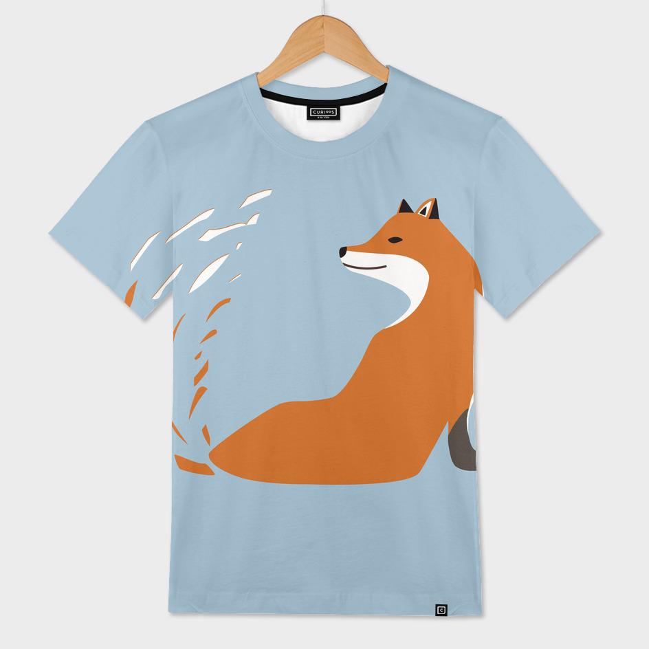 Minimalist Abstract Fox Design