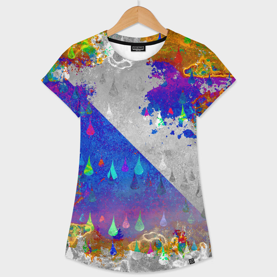 Abstract Colorful Rain Drops Design