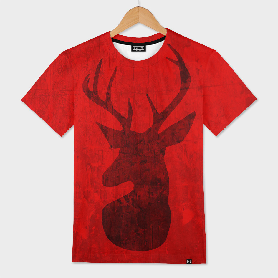 Red Deer Silhouette Design