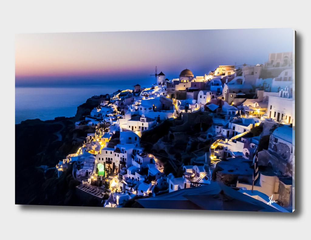 Santorini Island NightView Greece