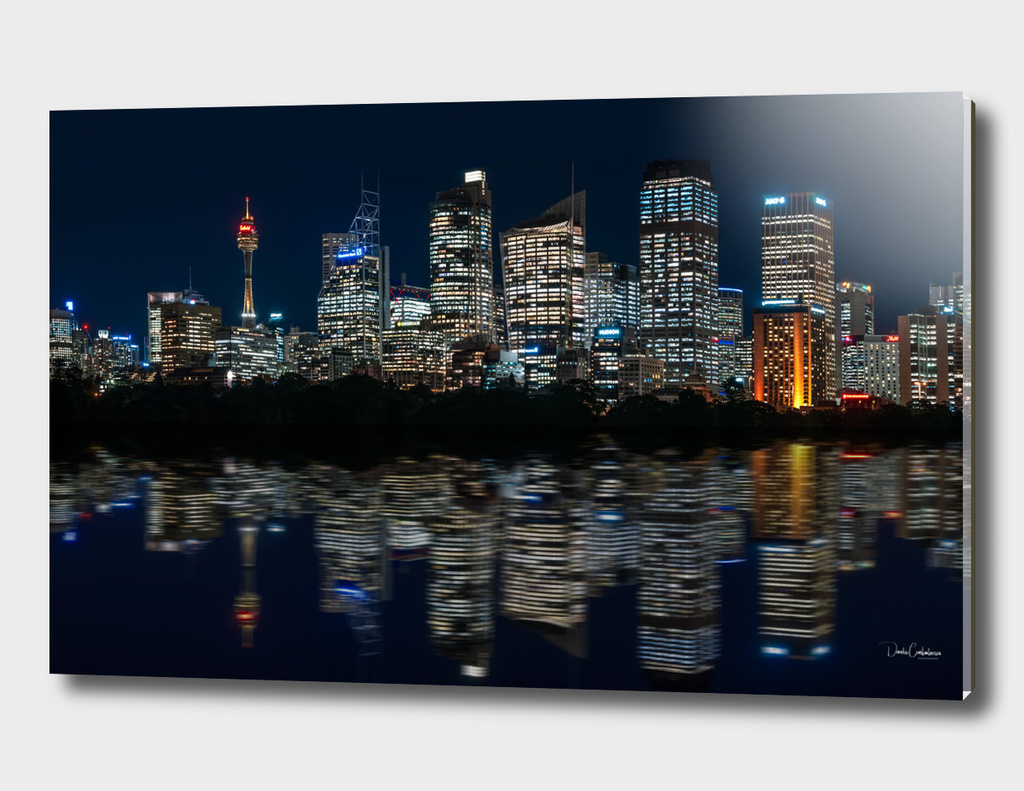 Ultra-wide panorama of Sydney Waterfront Skyline