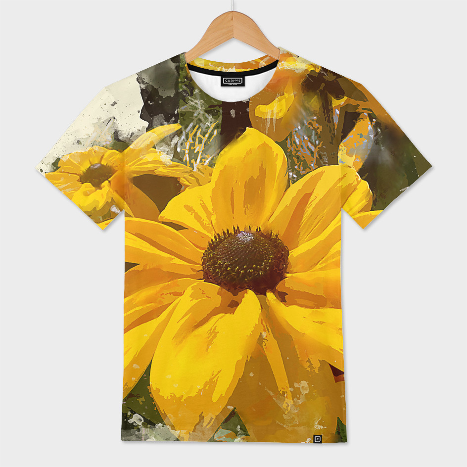 Black Eyed Susan Flowers Glowing in Sunshine