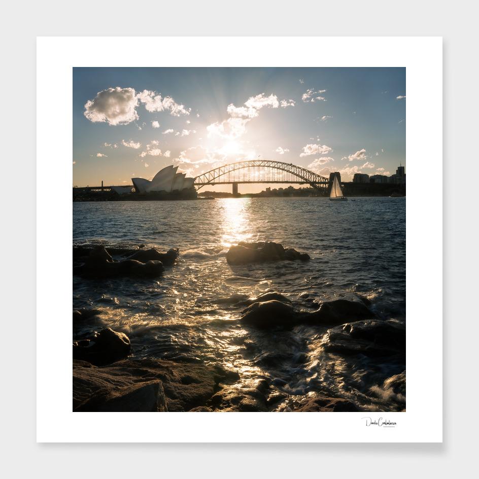 Golden hour in Sydney Harbour