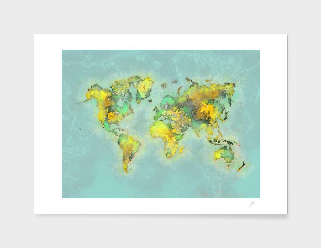 world map green 46