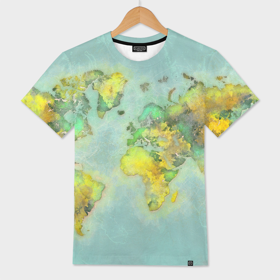 world map green 46