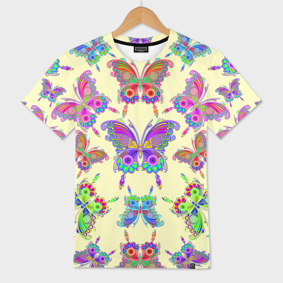 Butterfly Colorful Tattoo Style Pattern
