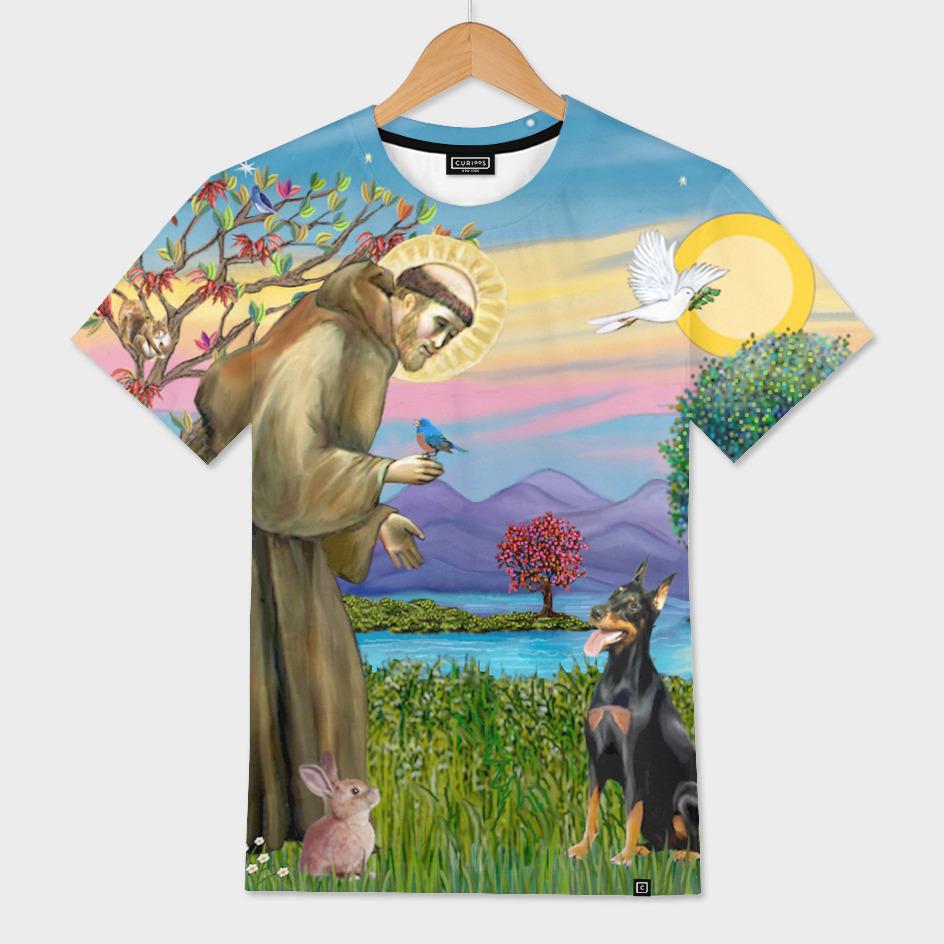 Saint Francis Blesses a Doberman
