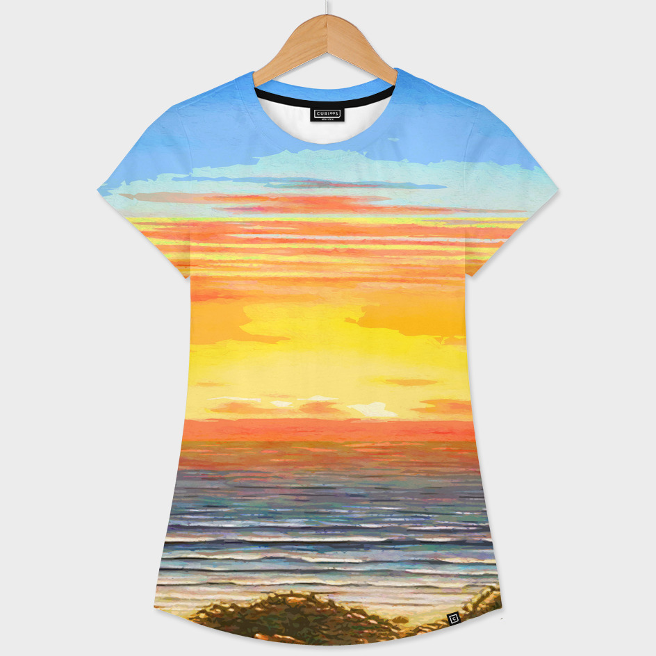 Abstract Beach and Ocean Sunset Streaks