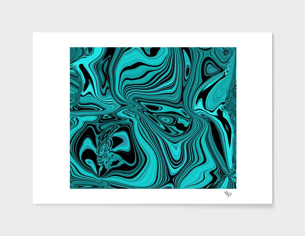 Aqua Glass Retro