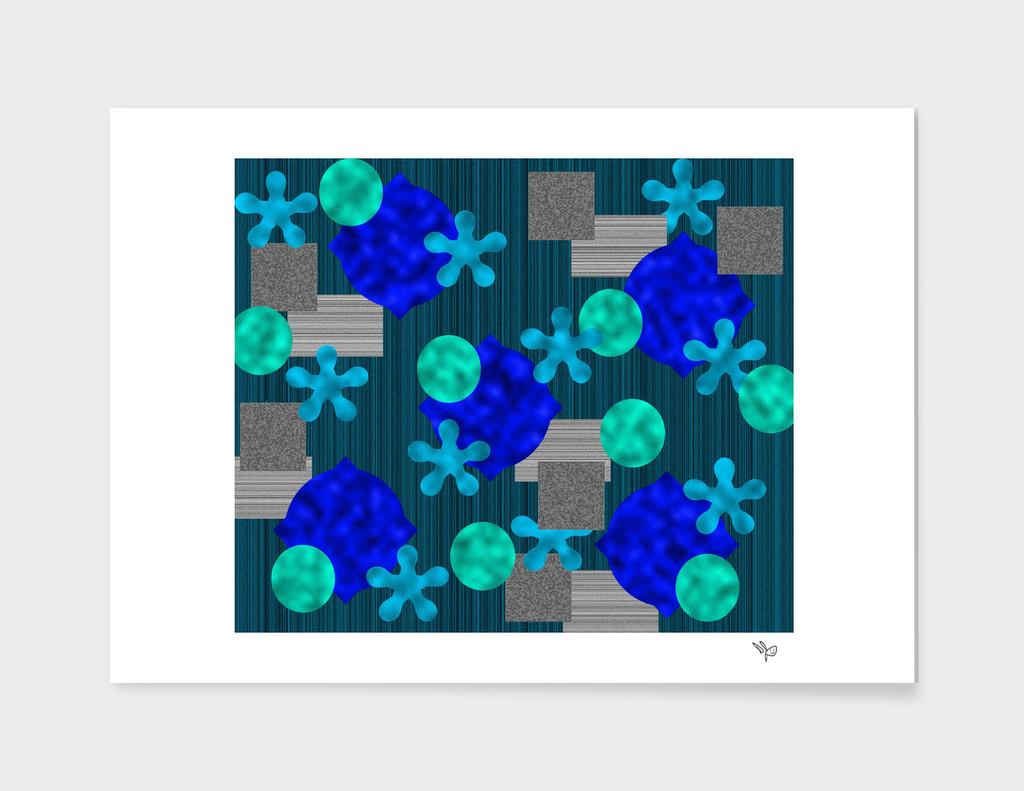 Green Gray Blue Texture