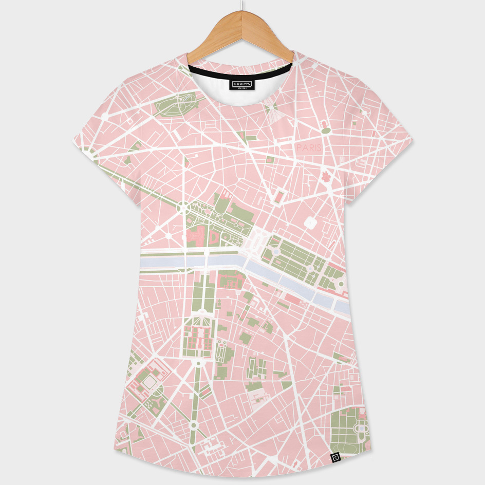 Paris city map vintage