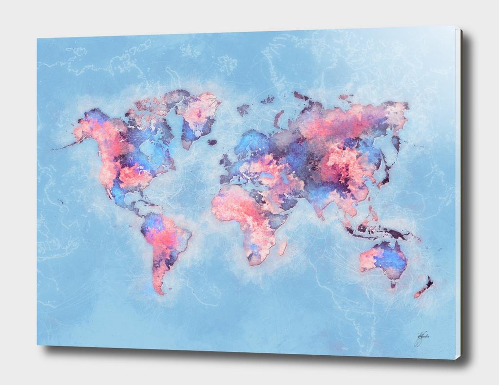 world map blue 47