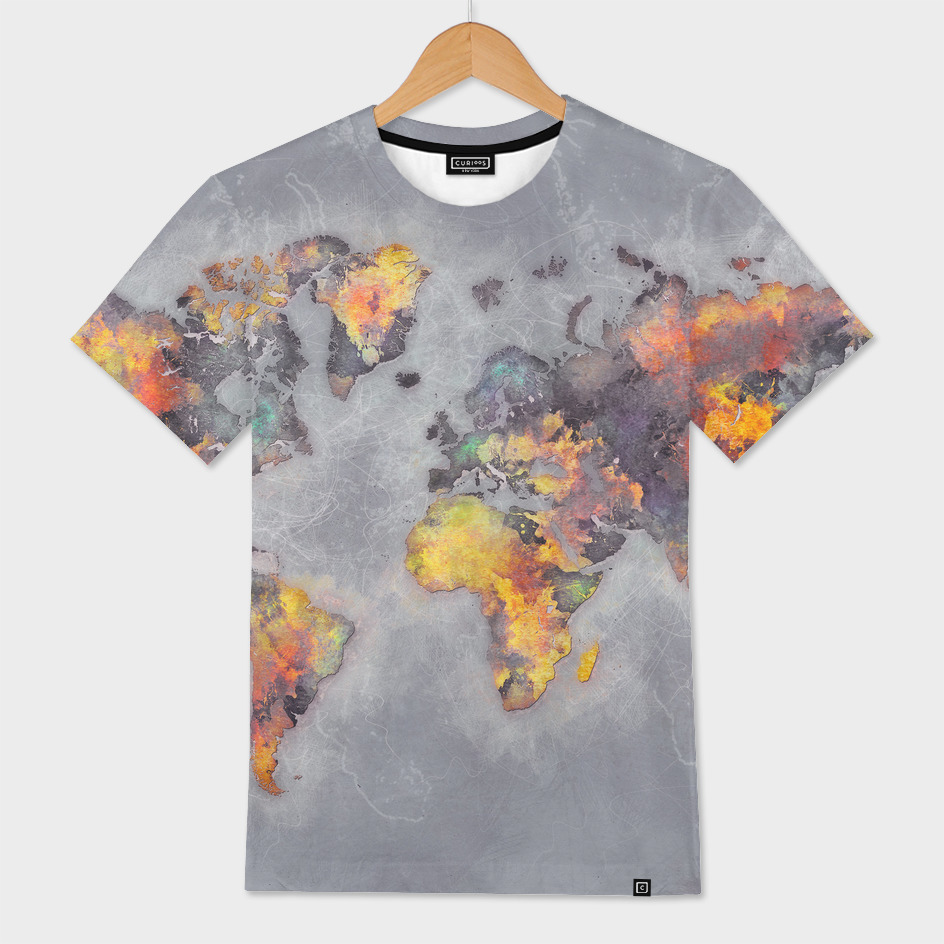 world map grey 48