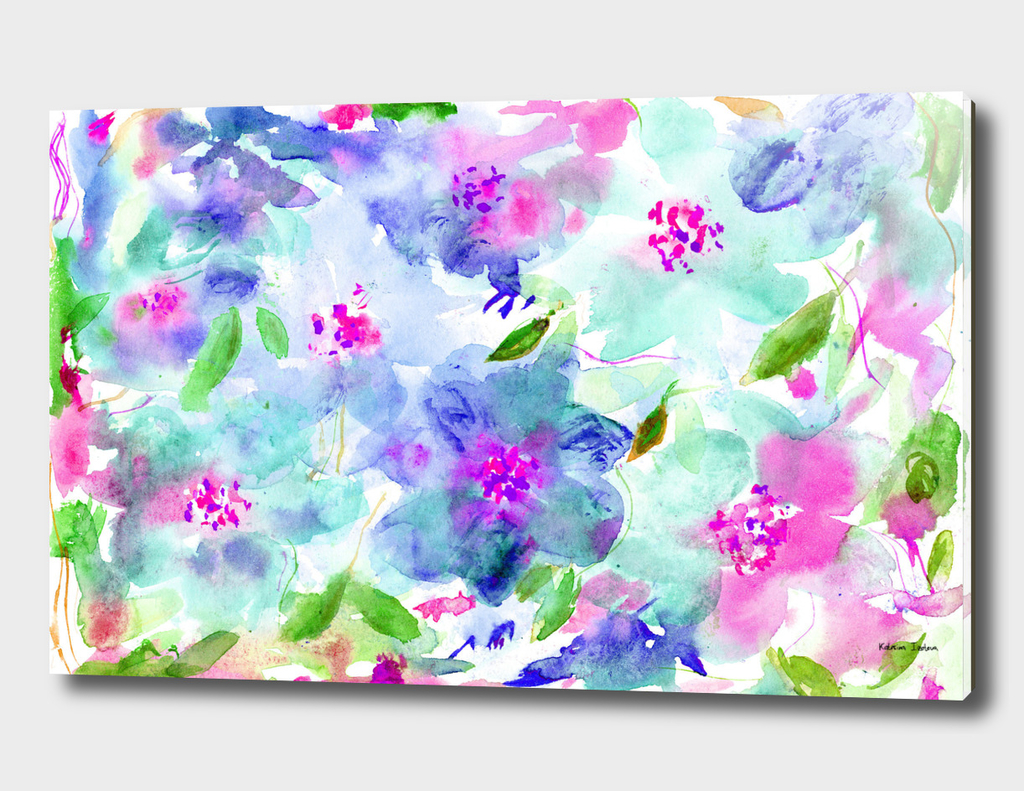 Floral abstraction #6 || watercolor