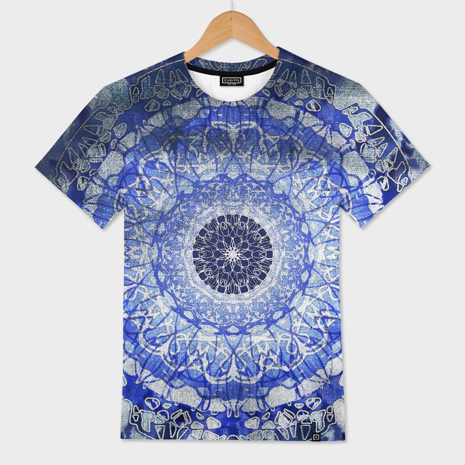 Tie-Dye Nouveau Mandala Blue