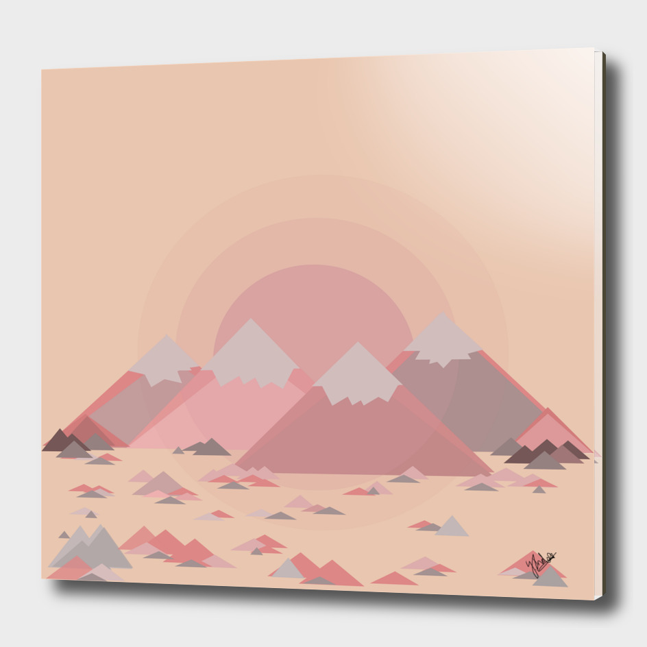 The pink mountains