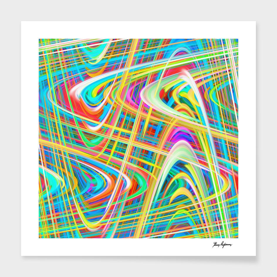 Colorful digital art splashing C23