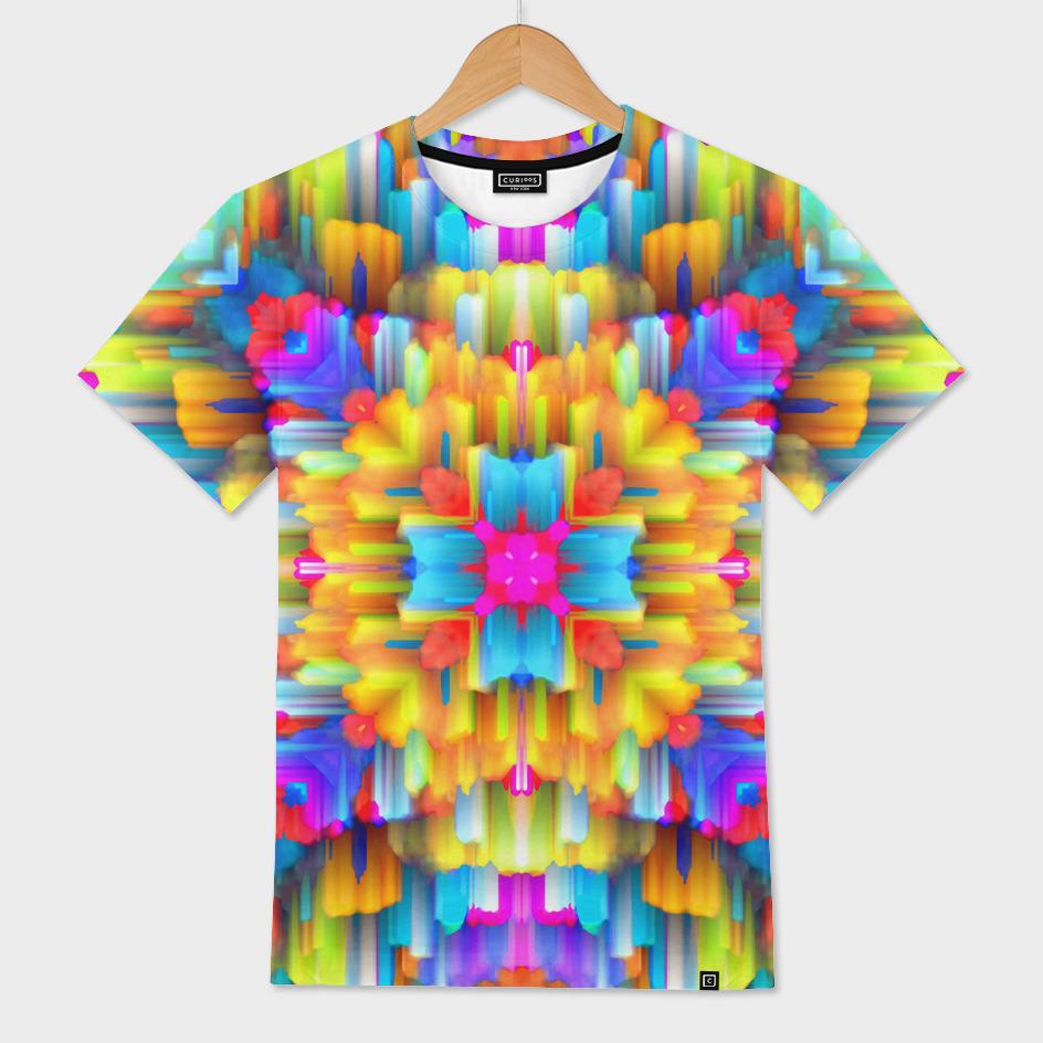 Colorful digital art splashing C20