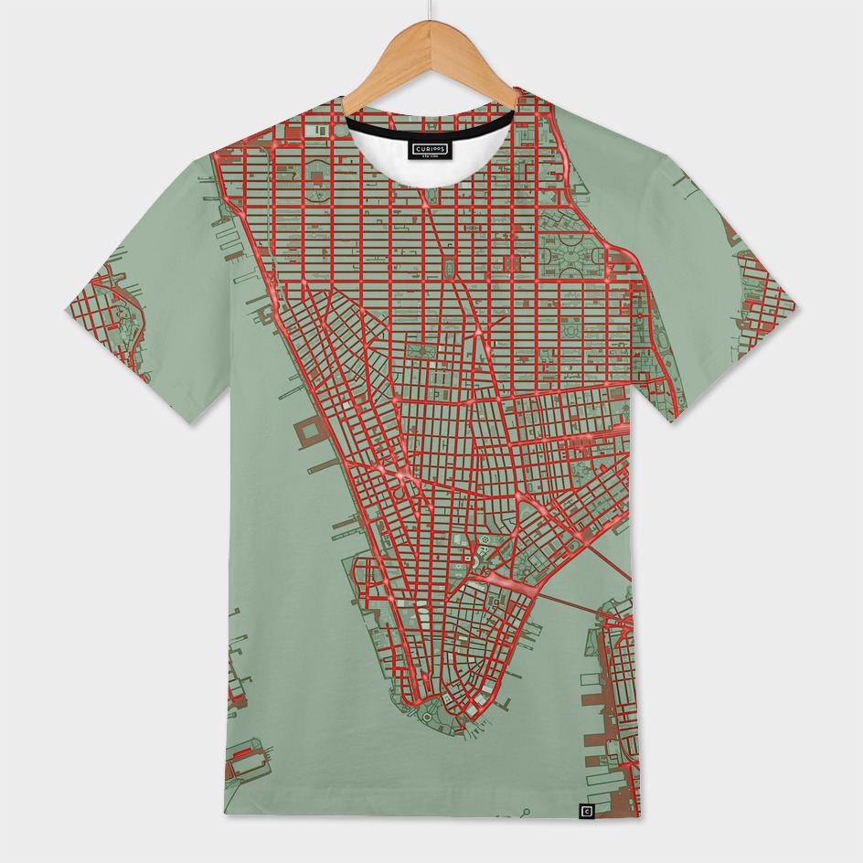 New York city map pop
