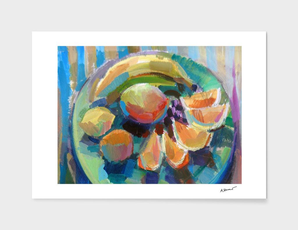 Oranges, bananas, lemons & mango