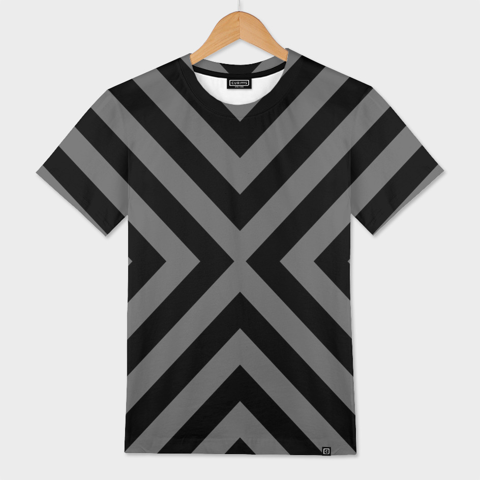 Gray and Black Geometric