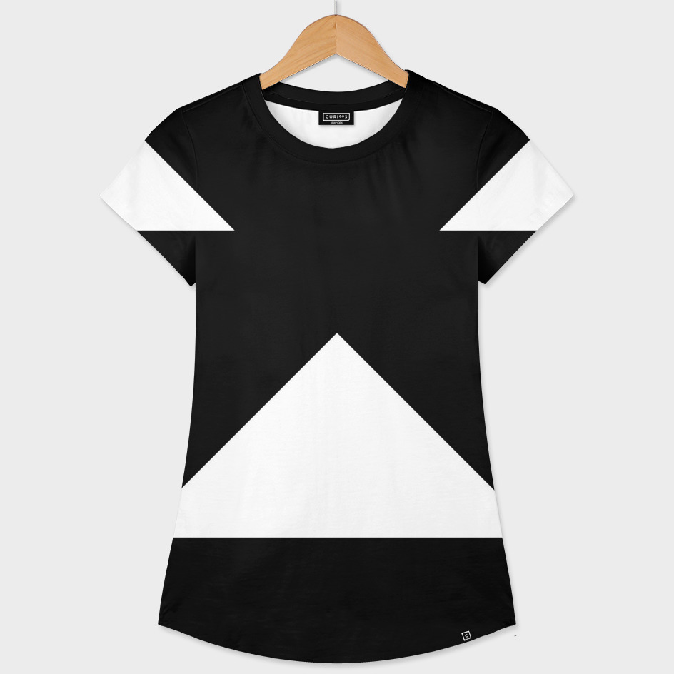 Black with White Triangles 3