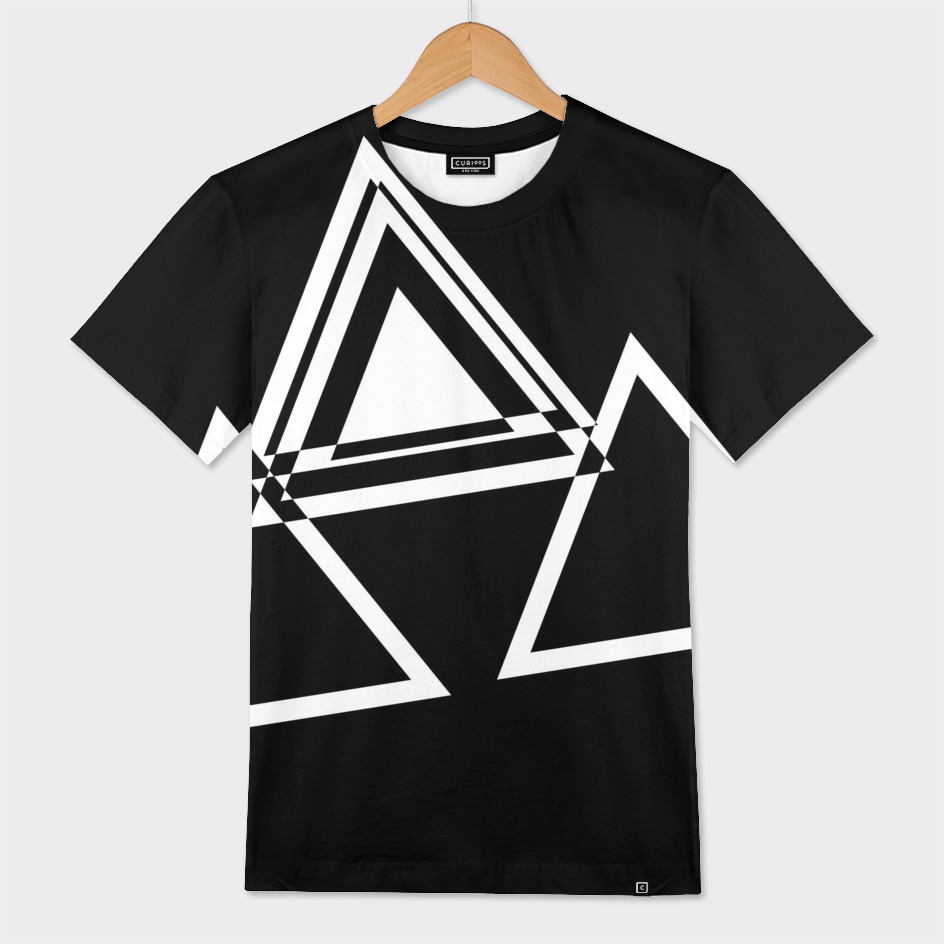 Black with White Triangles 2