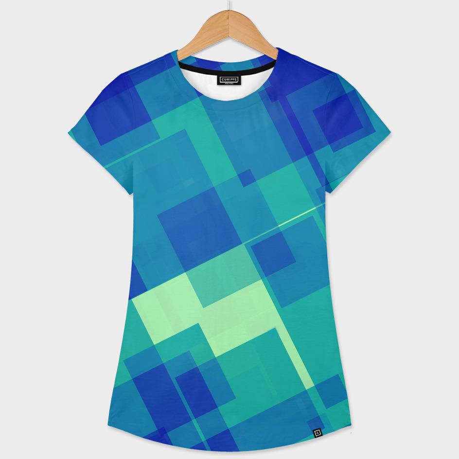 Blue and Green geometric