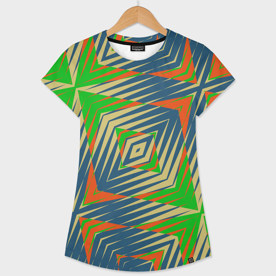 green blue and orange Geometric
