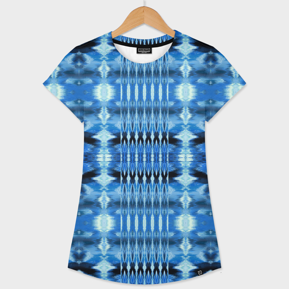 Watercolor Ikat Blue